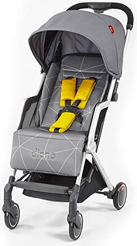 Diono Traverze Compact Luggage-Style Stroller, Grey Linear