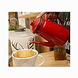 Jarra de Leche pequeña Hervidor de cerámica doméstica con Tapa de láctea de Gran Capacidad en Seis Colores Salseras Pequeñas (Color : F)