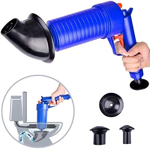 QYWSJ Luftdruck-Abflusspumpenrohr-Baggerwerkzeuge, Toilettenkolben, Luftablass-Blaster, mit 4 Saugnäpfen, für Badtoiletten, Badezimmer, Dusche, Küche Verstopfte Rohrbadewanne