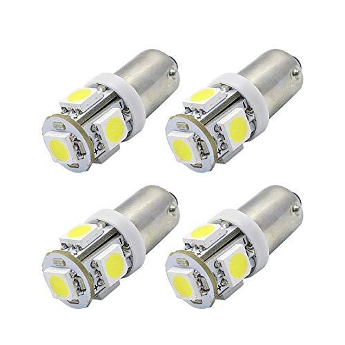 Ruiandsion Lot de 4 ampoules LED BAX9S - DC 6 V - 100 lm - Blanc - 5050 5SMD - Pour plaque d'immatriculation, éclairage intérieur