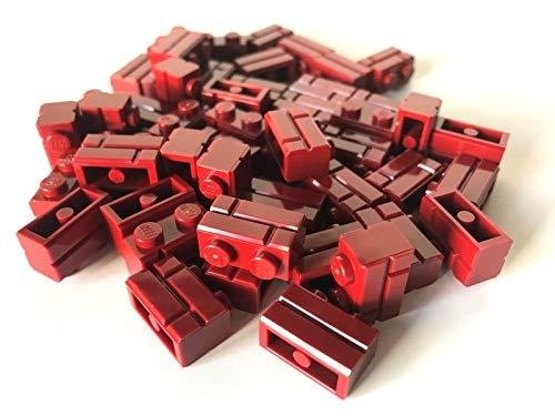 LEGO  50 piezas rojo oscuro / rojo oscuro / ladrillos de muro / Masonry 1x2.