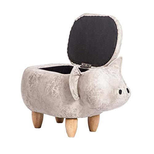 FVGH voetensteun in varkenvorm, voetensteun, zitzak, stoel, 66 mal; 38 keers; 34 cm (kleur: goud, maat: B) B-wit