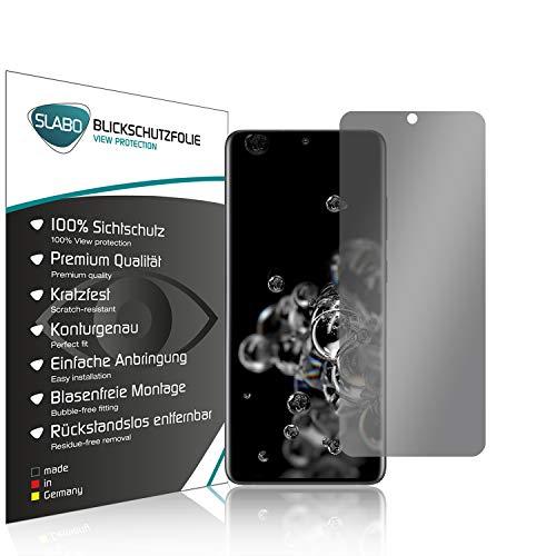 Slabo Blickschutzfolie für Samsung Galaxy S20 Ultra 5G Sichtschutz 4-Way Bildschirmschutzfolie 360 Grad View Protection Privacy (funktioniert Nicht mit Fingerabdrucksensor) Schwarz