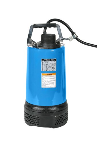 Tsurumi LB-800; Slimline Portable dewatering Pump, 1hp, 115V, 2' Discharge