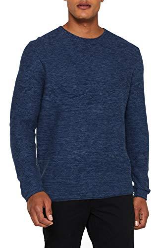 edc by ESPRIT Herren 998CC2I800 Pullover, Blau (Navy 400), Medium