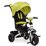 Byox Triciclo Continente, Triciclo 4 en 1 neumáticos EVA, múltiples Ajustables, Color:Verde