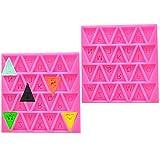 Silikon Fondant Cupcake Mould Brief Cupcake Mould Geburtstag Zahlen Ausstechformen Dekoration Werkzeuge Mould Ausstechformen Buchstaben Flagge Bunting Wimpelkette Buchstaben Kuchenformen 2 Stück, Pink