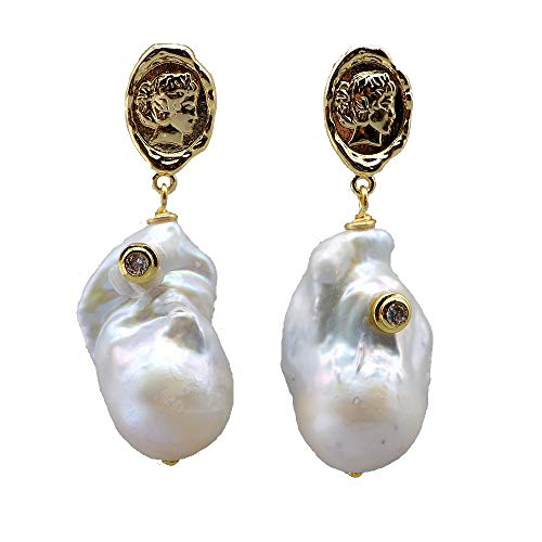 Aretes Pendientes Colgantes Barrocos, Perlas Naturales Irregulares, Estilo Bohemio, Joyas Chapadas En Oro De 18 Quilates, Pendientes De Mujer, Regalos Sexys