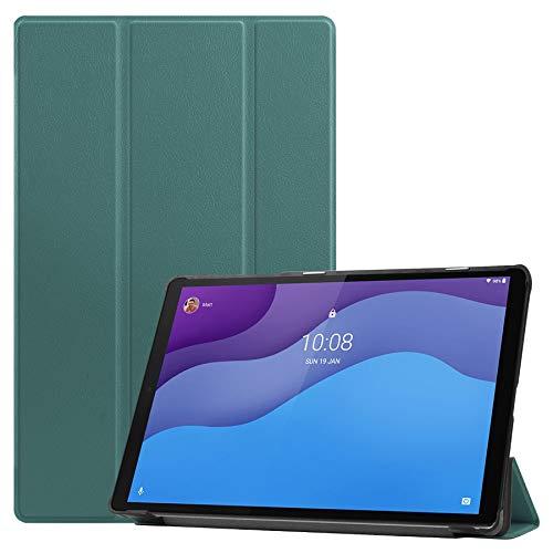 Lobwerk Funda para Lenovo Tab M10 2nd 2020 TB-X306F TB-X306X 10.1 pulgadas Smart Cover funda con función atril y función de encendido y apagado automático, color verde