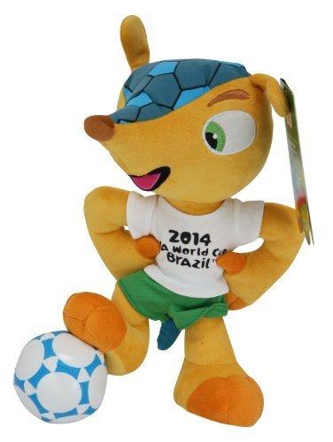 Fuleco Peluche 28 cm in piedi sul pallone - Mascotte Ufficiale - FIFA Mondiali di Calcio Brasile 2014
