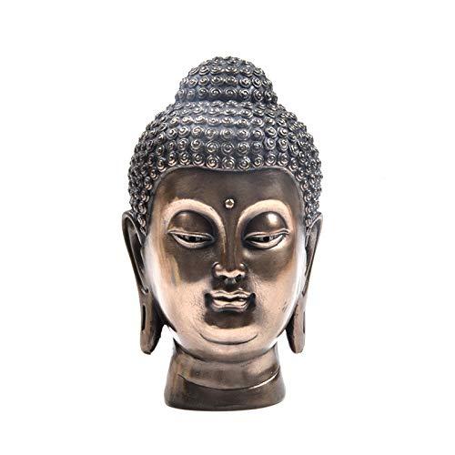 yfkjh Estatua De Cabeza De Buda Creativa Buda Zen, Escultura De Resina Oficina En Casa Escritorio De Bar Adorno Decorativo Feng Shui