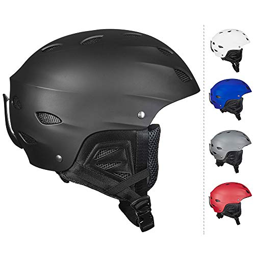 ILM Ski Helmet Kids Snowboard Snow Sports Sled Skate Outdoor Recreation Gear for Men Women ASTM Certified (Black, XS)