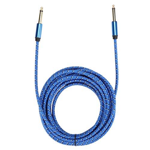 Gaeirt Cable de Audio Mono 6.35 Macho a Macho Cable de Audio para Guitarra eléctrica y Altavoz(Blue, 6 Meters)