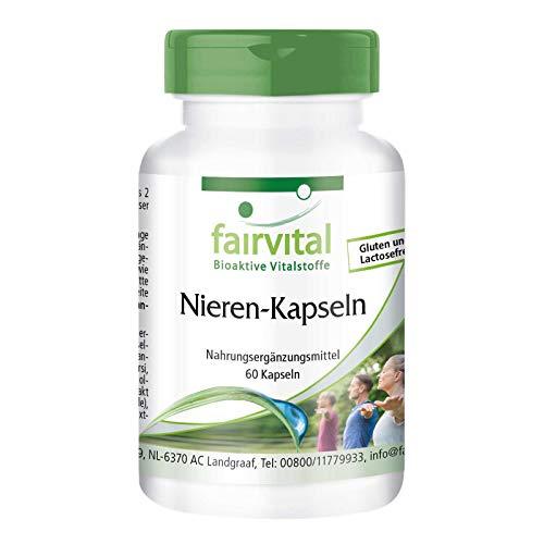 Nieren Kapseln - HOCHDOSIERT - VEGAN - 60 Kapseln - mit Cranberry, Bärentraube, Löwenzahn und mehr