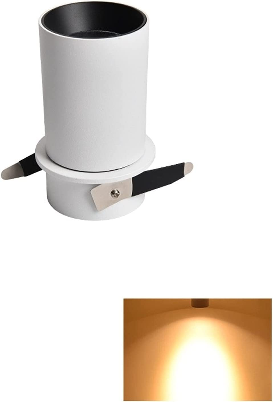 Simple Popularity White Round High Ra COB Rotatable Factory outlet Spotlight 3W Rec 12W 7W