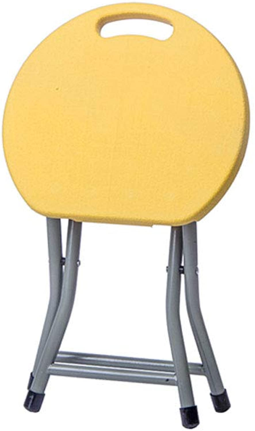 KTYXGKL Folding Chair Home Stool Creative Folding Stool Portable Outdoor Leisure Chair Thick Plastic Table Stool 31x29cm 45x33cm Folding Chair (color   S)
