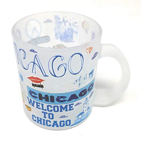 City of Chicago Souvenir Festive Frosted Mug(12 oz)