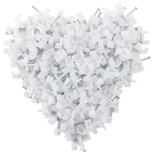 Ethernet Cable Clips Jadaol 200 Pieces for Cat7 Cables (White-8mm)