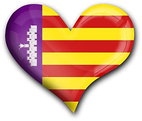 metALUm Herz Acrylmagnet mit starkem Neodym - Magnet Flagge Mallorca #1311042