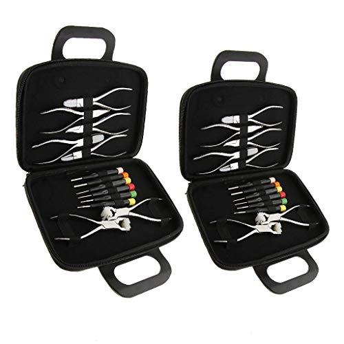 Kit de reparación de relojes 2 juegos de gafas de sol con destornilladores, alicates para reparación de gafas y herramienta de reparación de relojes.