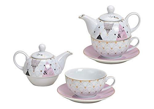 Tea for One Set 'You and Me' (Kanne & Tasse & Untertasse)