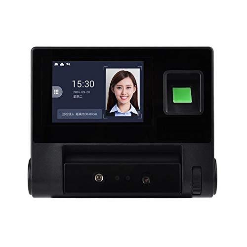 Zeitmaschine Gesichtsfingerabdruckerkennung Zugriffskontrolle Biometrische Geräte Anwesenheits-Maschine Für Büro, Schule (Language : English)