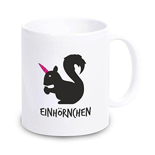 4you Design Tasse Einhörnchen - Kaffeebecher Geschirr Geschenkidee für sie/Frau/Freundin Geschenk Geburtstagsgeschenk ausgefallen originell Eichhörnchen Einhorn