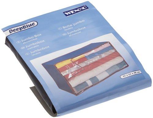 WENKO 4376010100 Jumbo-Box Deep Blue - Kunststofffilm, 91 x 48 x 53 cm, blau-rot