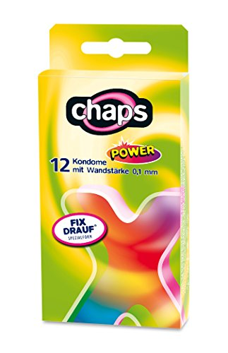 Kondome chaps power, 24 Stück, 0,1 mm Wanddicke, Sicheres Gefühl, Made in Germany