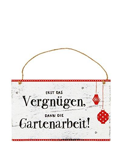 Spiegelburg Holz Gartenschild 25x15,5x1cm (Vergnügen)