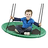 Flying Squirrel Giant Rope Swing - 40' Saucer Tree Swing- Additions & Replacements for Active Outdoor Play Equipment - Green