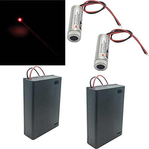 CTRICALVER 2pcs láseres circulares con módulo láser enfocable de 650 nm, enfoque láser...