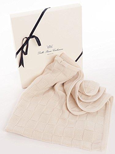 Dalle Piane Cashmere - Couverture bébé en 100% cachemire - Couleur: Beige