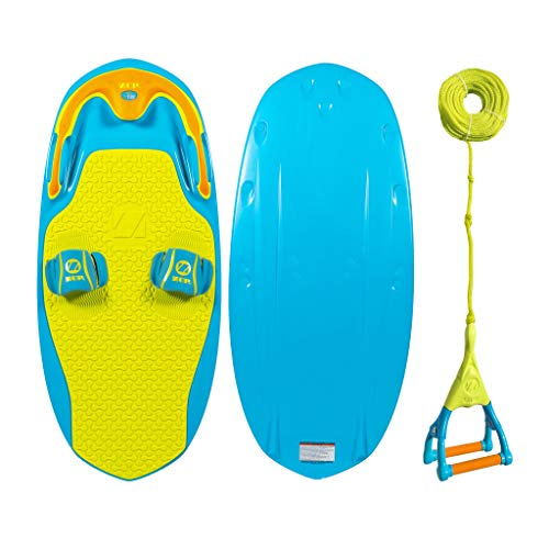 ZUP You Got This 2.0 Board and Handle Combo, All-in-One Kneeboard, Wakeboard, Wakeskate, and Wakesurf Board for All Ages, Blue