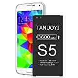 [3600mAh] Galaxy S5 Battery, 2021 Upgraded Li-Polymer High Capacity Battery Replacement for S5 G900A AT&T, SM-G900V, G900F, G900H, G900R4, I9600, SM-G900P, SM-G900T, EB-BG900BBC Battery TANUOYI