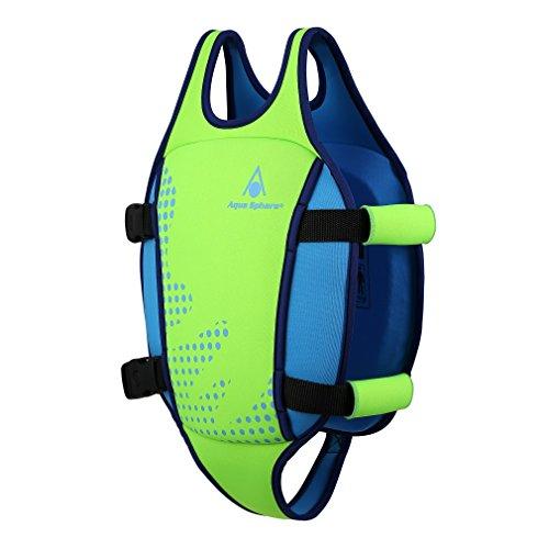 Aqua Sphere Unisex Jugend Swim Vest Schwimmweste, Grün, M (2-3Y)