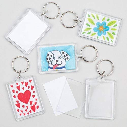 Baker Ross Schlüsselanhänger-Bastelset für Kinder zum Basteln und Personalisieren, toll als Geschenk - (8 Stück)