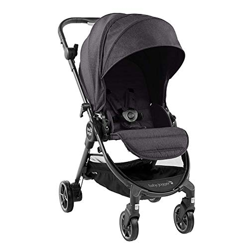 Baby Jogger City Tour LUX Stroller | Compact Travel Stroller | Lightweight Baby Stroller with Backpack-Style Carry Bag, Perfect for Travel, Granite