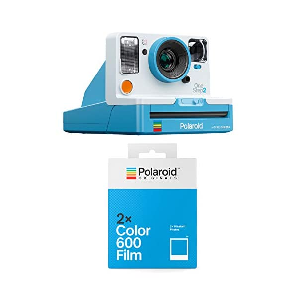 Polaroid OneStep 2 Blue Instant Camera with 2 Color 600 Films