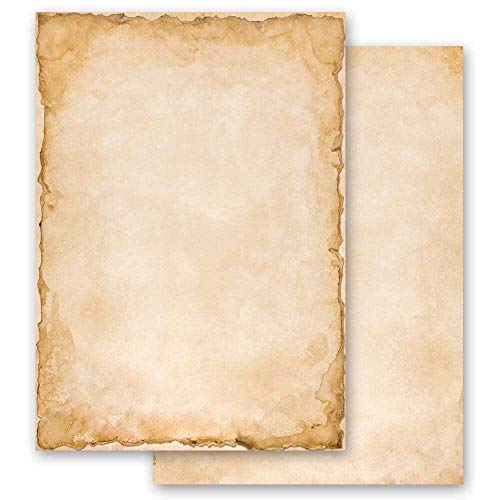 20 Blatt Briefpapier Antik & History VINTAGE - DIN A4 Format - Paper-Media