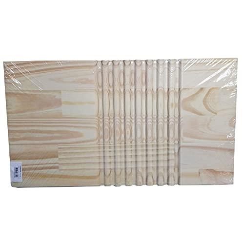Acan Reggo - Tabla para Lavar Ropa a Mano, Madera Natural, 57 x 32 x 1,8 cm, Tabla de Lavado Manual, lavandería, Resistente y Duradera, diseño Sencillo y práctico