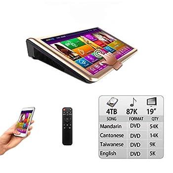 4TB HDD 87K Chinese songs  Mandarin,Cantonese,Taiwanese  English Songs 19   Desktop TSR Touch screen karaoke player,Cloud Download 觸摸屏,卡拉OK 播放器,云下載,國語+粵語+台語+英語