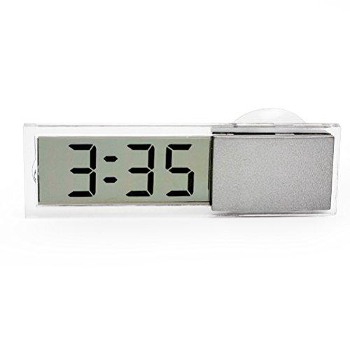Winomo Digitale LCD-Uhr für das Auto, mit Saugnapf