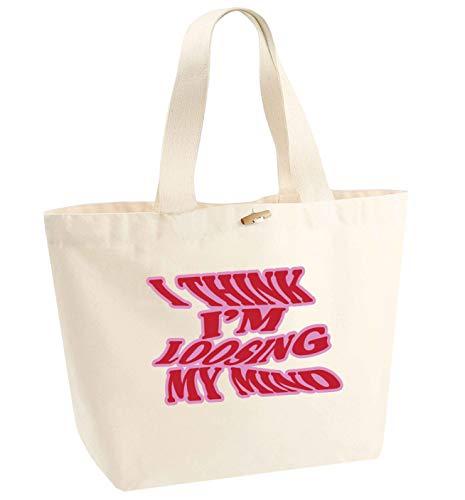 Flox Creative Tragetasche aus Bio-Baumwolle mit Aufschrift I Think I'm Loosing My Mind, Beige - natur - Größe: Einheitsgröße