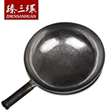 Chinese Hand Hammered Iron Woks and Stir Fry Pans, Non-stick, No Coating, Less Oil, 章丘铁锅,舌尖上的中国,A bite of China