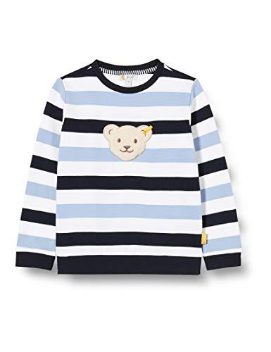 Steiff Jungen Sweatshirt, Weiß (Bright White 1000), (Herstellergröße: 110)