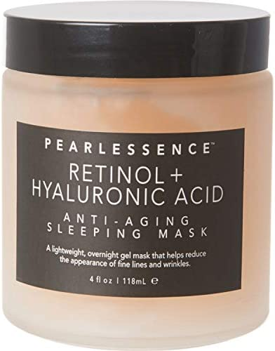 Pearlessence Retinol Hyaluronic Acid Anti Aging Sleep Face and Neck Mask 4 oz A Lightweight product image