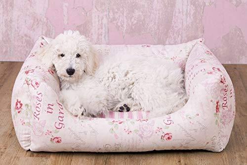 Knuffelwuff 13072 Vintage Hundebett Emilia Shabby Chic - Größe M - L, 85 x 63 cm