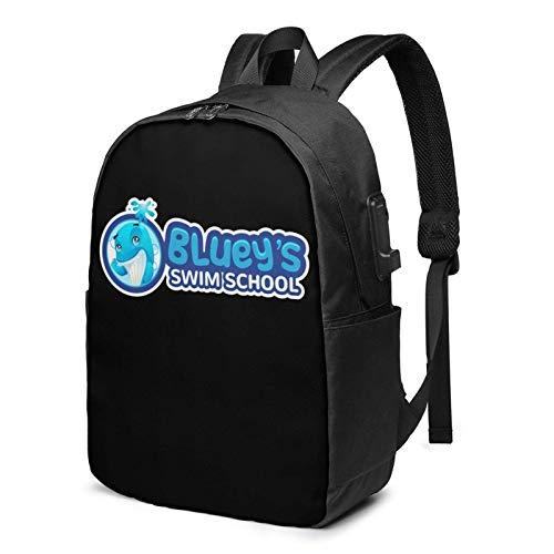 IUBBKI Bolsa para computadora mochila USB Men Women Packable Backpack with USB Charging Port, Durable ventilation Work Bag, Rucksack Daypack for Outdoor Collegem Travel, Cartoons Blu-ey