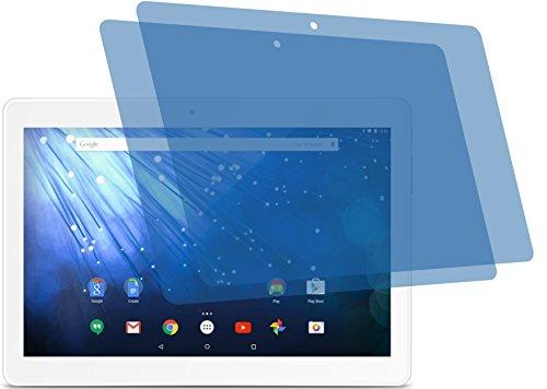 4ProTec I 2X Crystal Clear klar Schutzfolie für Trekstor SurfTab Breeze 10.1 Quad 3G mit Handyfunktion Premium Bildschirmschutzfolie Displayschutzfolie Schutzhülle Bildschirmschutz Bildschirmfolie Folie